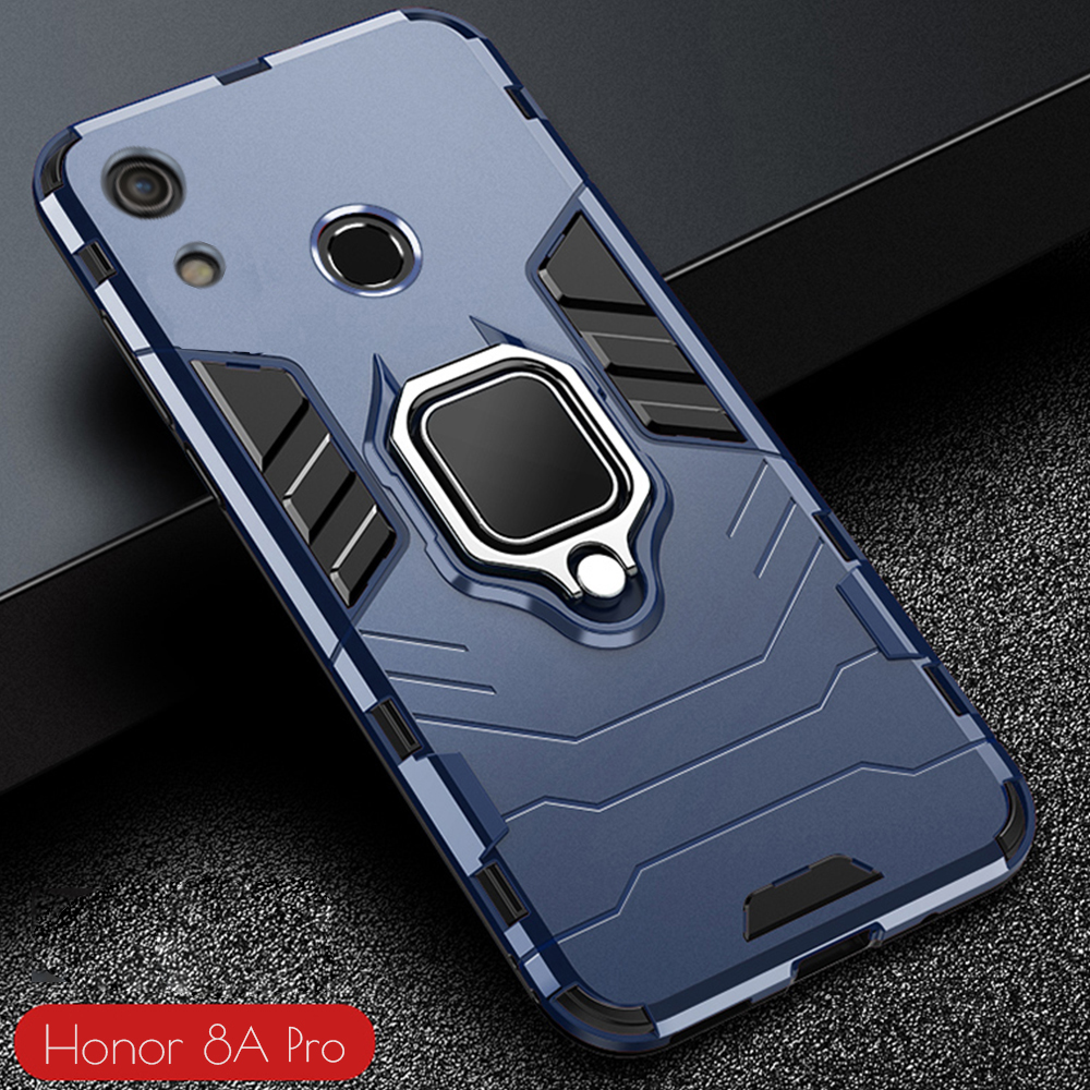 Phone-Case Honor Pc-Cover Armor Huawei for Finger-Ring-Holder Hard-Bumper Reinforced