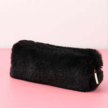 Get more info on the Girl Cute Plush Bag Fuzzy Fluffy Pencil Case Makeup Pouch Coin Baby Purse Storage Bag Zipper Bag Kids Gifts
