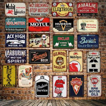[DecorMan] neumáticos de aceite de Motor de vacío de ley señal de estaño lubricante de energía al por mayor pinturas murales de Bar decoración de PUB LT-1876