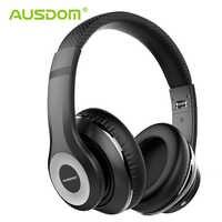 Ausdom anc10 v5.0 com fio sem fio bluetooth fones de ouvido 30 h tempo de jogo dobrável cancelamento de ruído ativo fone de ouvido sem fio com microfone