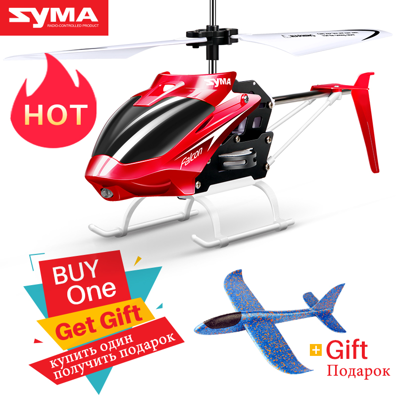 Syma RC Helicopter Rc-Toys Rc-Drone Gift Official Crash-Resistant Yellow Mini 2-Channel