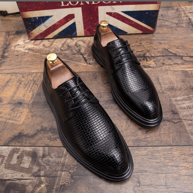 Mens Shoes Casual Luxury Leather Shoes Male Comfortable Dress Shoes Fashion Leisure Walk Formal Shoes Prom Evening Long Dresses 2
