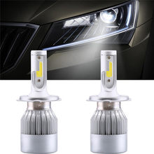 2 pçs cob h4/hb2/9003 10800lm 36 w led kit de farol do carro oi/lo turbo lâmpadas 6000 k(China)