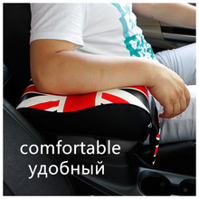 Cool Logo Car Accessories Interior Leather Pad Auto Armrests Center Console Arm Rest Seat Box Vehicle Protective