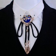 Tie Necklace Bolo-Bowtie Korean-Shirt Gifts Eagle Men's Crystal Cute Unisex Jewelry Trendy