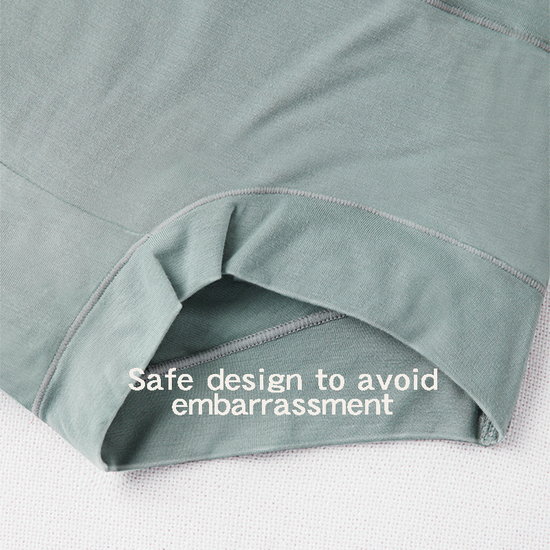 [3PCS/5PCS]/lot Women Silky Modal Panties Ladies High Waist Boyshort Breathable Soft Underwear Girls Briefs Safety Shorts Pants 4