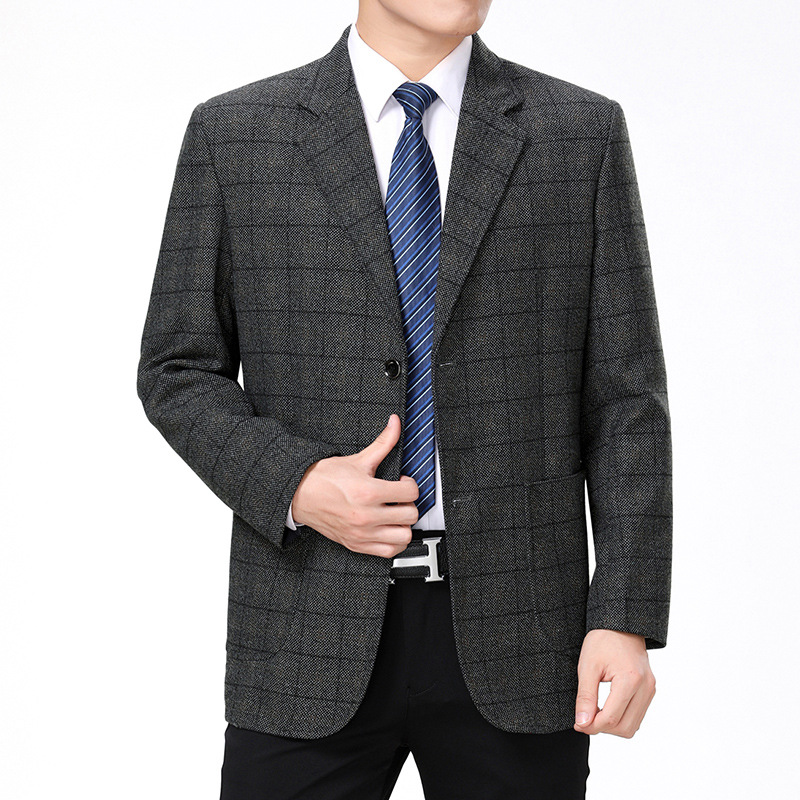 Spring And Autumn New Middle-aged And Elderly Men's Classic Business Casual Suit High-end Jackets Men's Clothing Blazers Jacket