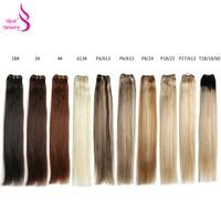 Настоящая красота Платина блонд бразильские пучки прямых и волнистых волос 18