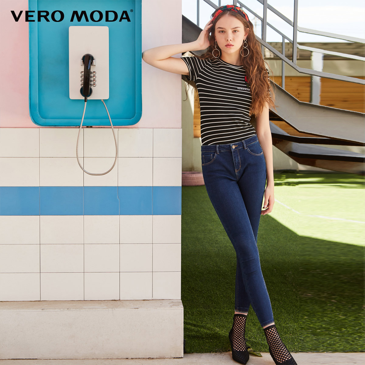 Vero Moda 2019 New Arrivals Women's Slim Fit Brushed Villus Lining Crop Jeans | 318349555