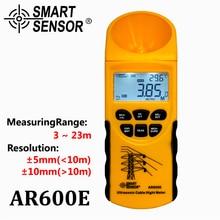 Ультразвуковой кабель измеритель высоты 6 кабелей измерения ЖК-дисплей Диапазон измерения умный датчик AR600E
