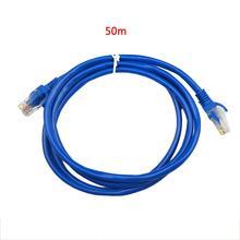 Câble Ethernet RJ45 câble réseau bleu 100FT 5/10/15/20/25/30/50M câble de connexion Internet réseau CAT5 CAT5E