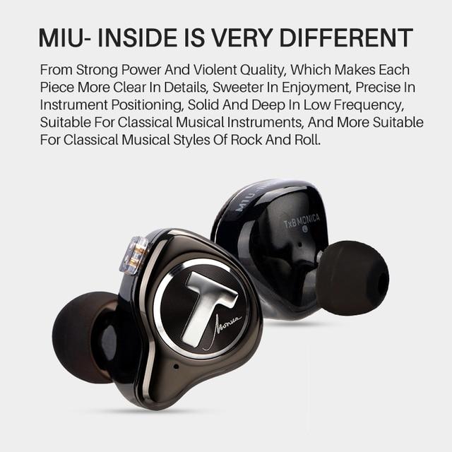 TFZ T X BEAR MONICA In Ear Monitor Professional Headphone Noise Canceling Super Bass DJ Music HIFI Headset Detachable Cable 4