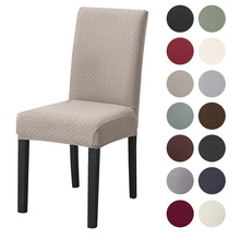 4 Types Dining Chair Cover Spandex Jacquard Kitchen Dining Room Chair Slipcover Protector
