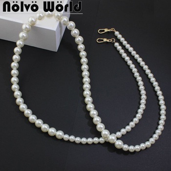 1-5-10 pieces 120cm High Fashion pearl chain in gold/silver hook,Gradually varied Large pearls at the top,small pearls at bottom image