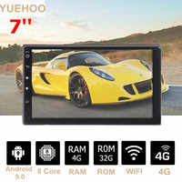 "YUEHOO 7"" 2 DIN 4+32G Android 9.0 Car Stereo Radio MP5 Multimedia Player 8 Core Touch Screen 4G WIFI bt Car GPS Navigation"