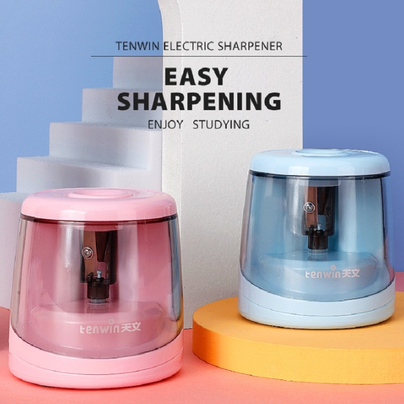 Electric Auto Pencil Sharpener Switch Pencil Sharpener For 6-8mm Pencil Color Pencil School Office Stationery Home