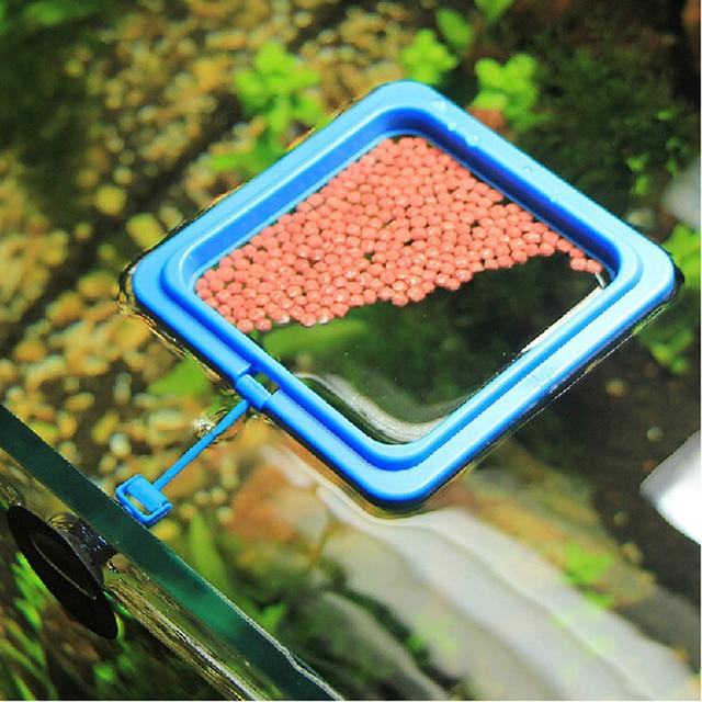 Aquarium Grass Tank Fish Feeding Square Round Ring Feeder Station Floating Food Water Plant Buoyancy Circle Accessory