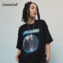 CoooColl T-shirt Dancer Fashion trends Loose SUMMER HIP HOP Cool Chris Brown Casual Astronaut cotton 19SS ILLUSORY TEE Men