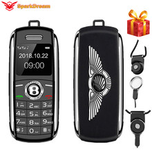 Discador desbloqueado mini do telefone móvel bluetooth 0.66 Polegada com as mãos mini telefone mp3 voz mágica duplo sim menor telefone celular