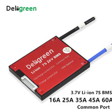 7S 16A 25A 35A 45A 60A BMS electric bicycle accessories for 24V lithium 18650 battery pack
