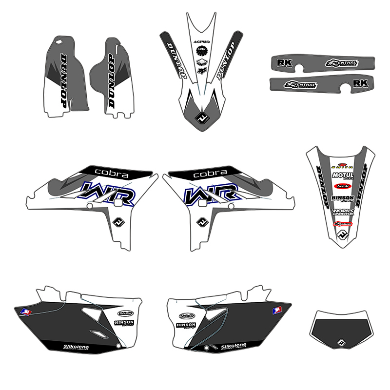 WR 450F 2012 2013 2014 2015 Decal <font><b>Sticker</b></font> For <font><b>Yamaha</b></font> <font><b>WR450F</b></font> WRF450 WRF 450 Motorcycle Team Graphics Kit image