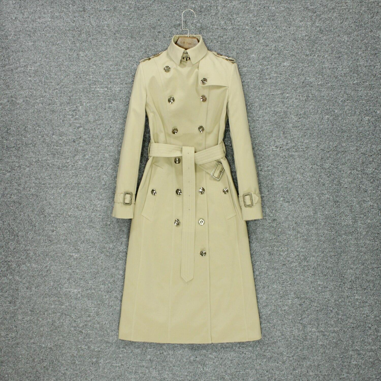 2019 Fashion Autumn Trench Coat Women's Knee Style British Style Fashion Temperament High-end Luxury Brand Coat
