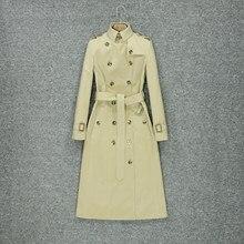 2019 moda outono trench coat estilo joelho feminino estilo britânico moda temperamento high-end marca de luxo casaco