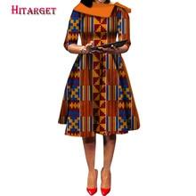 Hitarget 2019 New Ankara Wax Print african dresses for women ankara Party Dress Dashiki Africa Women Clothing WY5232