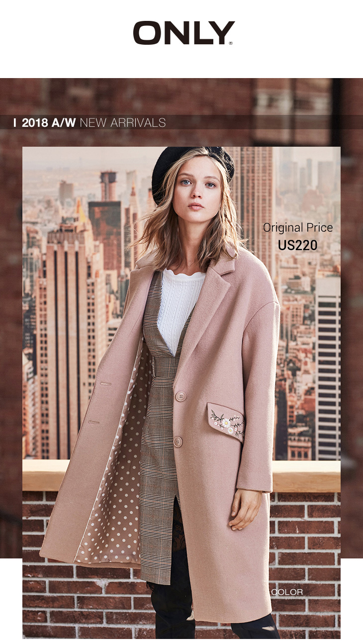 ONLY 19 Autumn Winter Women Wool Coat New Women's Embroidered Woolen Coat |11834S539 7