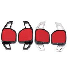 2 PÇS/SET Para AUDI A3 S3 A4 S4 A5 S5 A6 S6 A7 A8 R8 Q3 Q5 Q7 TT Volante DSG Paddle Extensão Shifter Decoração Autocolante