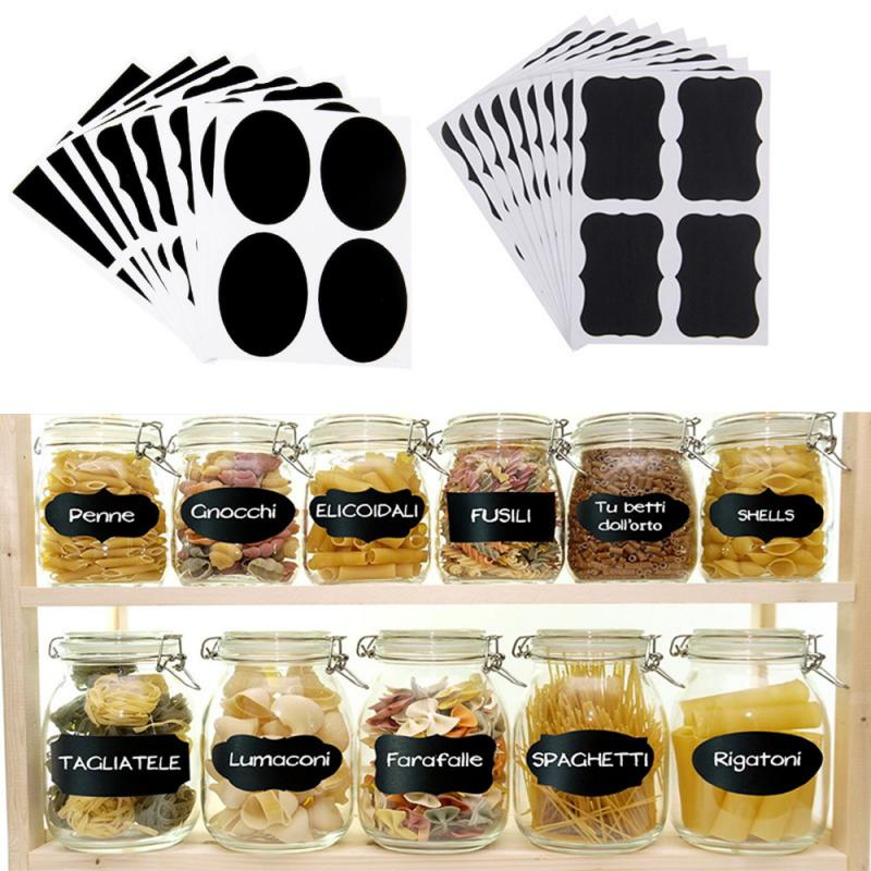 36 Waterproof Chalkboard Labels Stickers Home Kitchen Jars Bottle Tags Spice Stickers Blackboard Stickers Office School Supplies