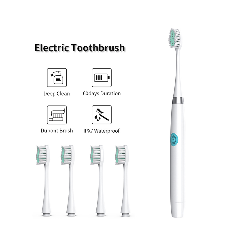 Sonic Toothbrush Electric ToothBrush Battery Operated Oral Hygiene Non Rechargeable Tooth Brush Deep Clean Adult Waterproof IPX7
