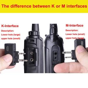 Image 5 - Walkie Talkie Hands free Bluetooth Headset K/M Type Earphone Handheld Two Way Radio Wireless Headphones For Motorola Baofeng