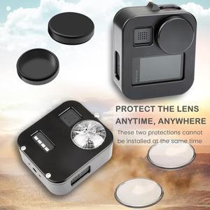 Image 4 - JINSERTA שיכון Shell Case כיסוי עבור Gopro מקס CNC אלומיניום סגסוגת מגן כלוב עם מכסה עדשה עבור GoPro Max