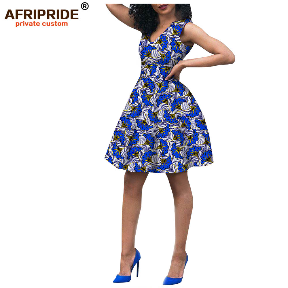 2018 Fashion african style dress for women african clothing robe africaine bazin riche maxi dress for sexy lady A722523