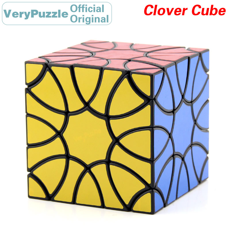 Original VeryPuzzle trèfle magique Cube pétale courbe vitesse Twisty Puzzle casse-tête jouets éducatifs pour enfants