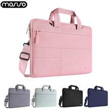 Mosiso Laptop Polyester Shoulder Bag 13.3 14 15.6 inch for Macbook Air/Pro 13 15 Computer Pocket Handbag for Hp/Samsung/Dell