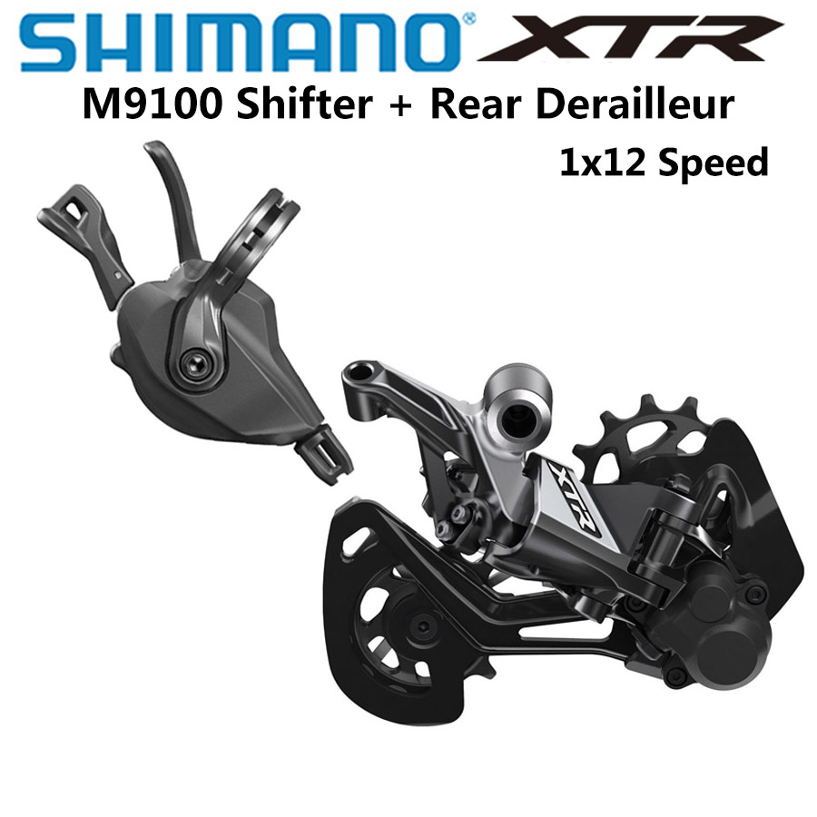 SHIMANO DEORE <font><b>XTR</b></font> <font><b>M9100</b></font> 12s Groupset Mountain Bike Groupset 1x12-Speed RD SL <font><b>M9100</b></font> Rear Derailleur <font><b>XTR</b></font> Shifter 10-51T image