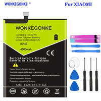 WONKEGONKE 4500mAh BP40 Battery For Xiaomi Redmi K20 Pro / Mi 9T Pro BP40 High quality battery + Tools|Mobile Phone Batteries| |  -