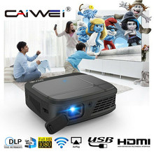CAIWEI H6W Smart DLP Mini projecteur de poche Wifi 3D projecteurs 3300 Lumens 1080P Full HD Home cinéma TV portable projecteur HDMI(China)
