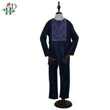 Африканская детская одежда h & d для мальчиков Детская рубашка