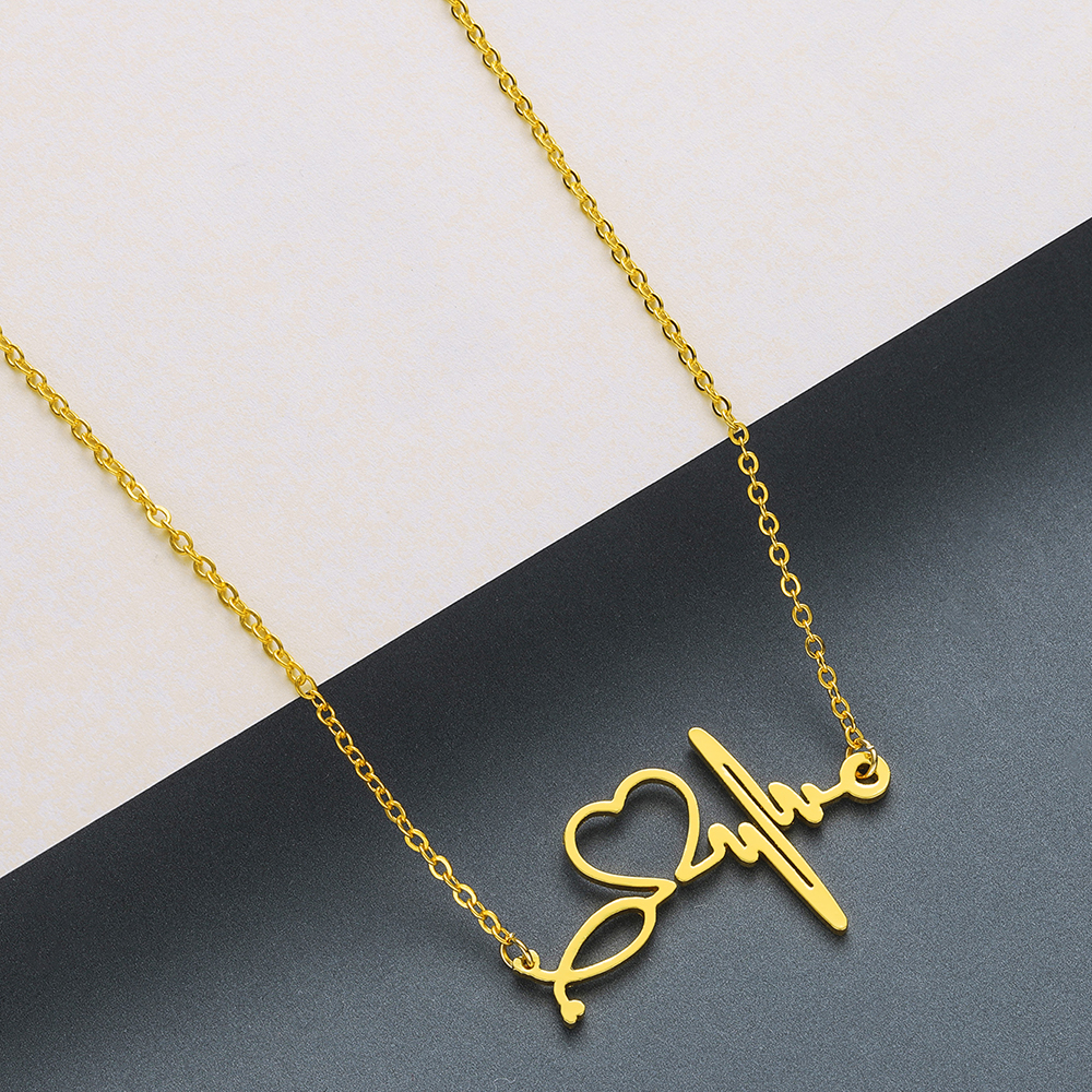 Todorova Stainless Steel Curved Crescent Moon Pendant Necklace OX Double Horn Necklaces for Women Delicate kolye Jewelry 4