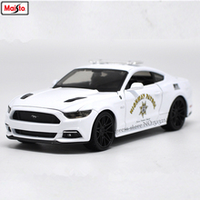Maisto 1:24 Ford 2015 Mustang GT police car alloy authorized model crafts decoration toy tools Collecting gifts
