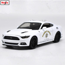 Maisto 1:24 Ford 2015 Mustang GT police car alloy authorized car model crafts decoration toy tools Collecting gifts(China)