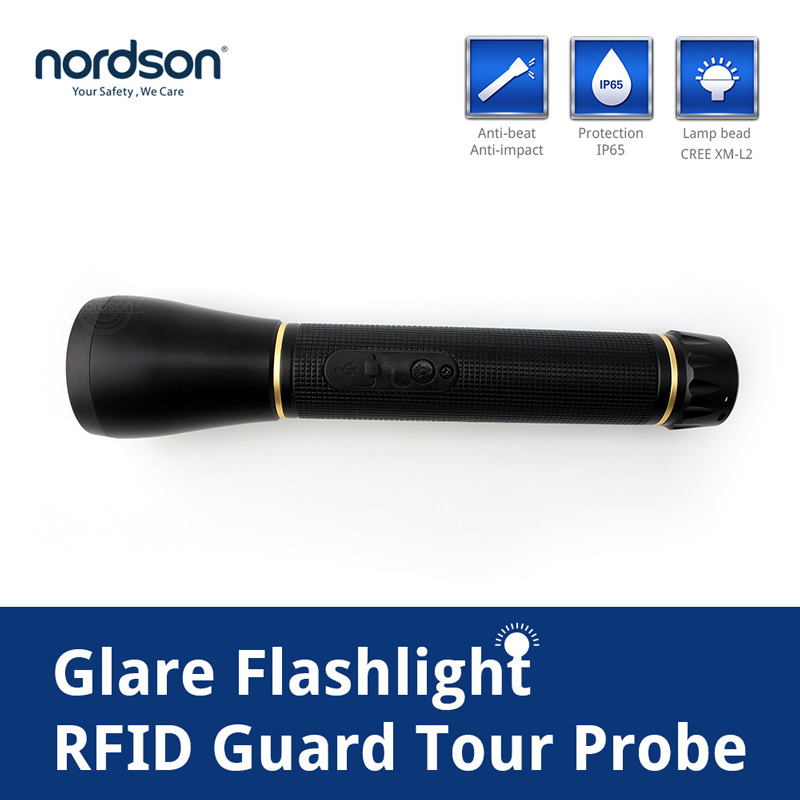 Nordson Original Flashlight Guard Tour Security System Battery Power IP65 Waterproof Tracking Patrol Guard Equipment LED Torch