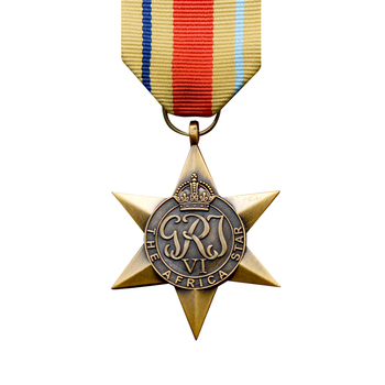 United Kingdom North Africa Montgomery Medal African Star Hexagon Medal GRI Georgius Rex Imperator VI Metal Badge Brooch Pin image