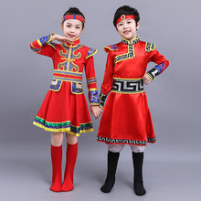 Chinese Folk dancewear Mongolia Clothing Ethnic Minority Clothing Catamite Mongol Ethnic Minority Clothing Gown Tibetan Clothes chinese clothing care