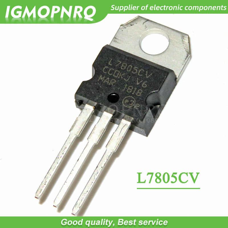 10 Pcs L7805CV L7805 7805 Transistor Drie Terminal Voltage Regulator To-220 Nieuwe Originele