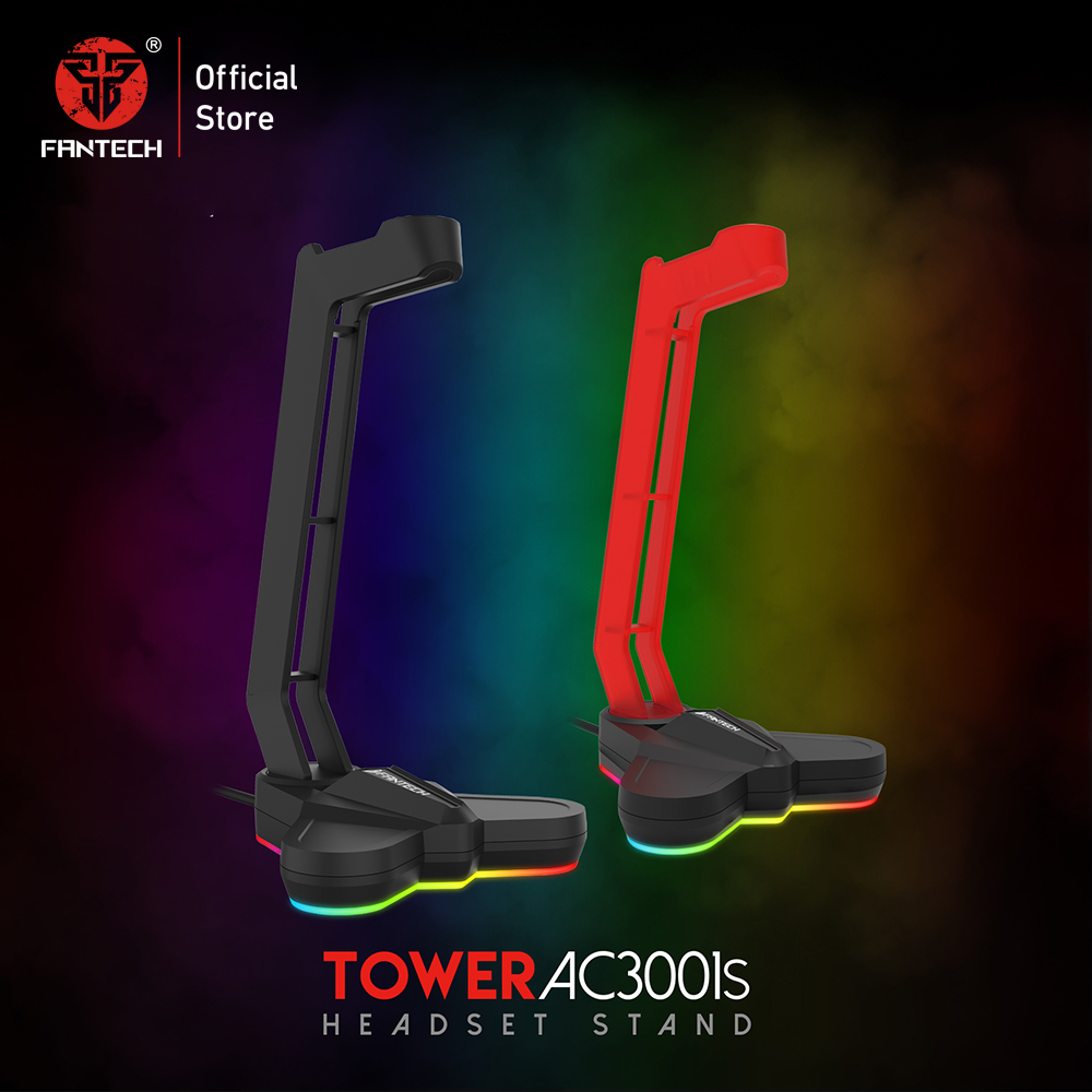 FANTECH AC3001S RGB Headphone Stand Anti-slip And Base Is Aggravating For Multi-function Earphone Stand Hot Earphone Rack