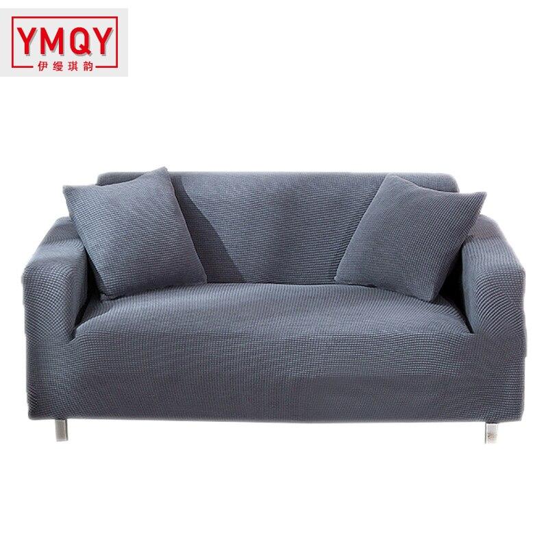 YMQY universele effen sofa kussen combinatie Handdoek Sofa Covers Voor Woonkamer cubre sofa Couch Cover L vorm 1 /2/3/4 zits